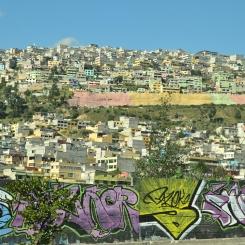 The slums of Quito